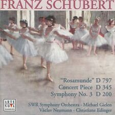 """SCHUBERT: """"ROSAMUNDE"""" - CONCERT PIECE FOR VIOLIN AND ORCHESTRA - SYMPHONY NO. 3"""