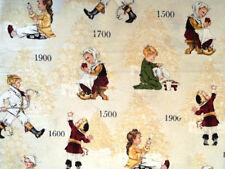 CHILDREN THROUGH THE YEARS 100% COTTON FABRIC HALF YARD/SEWING CHILDREN PRINT