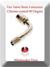 1 Kit Brass Tire Valve Stem Extension Chrome coated 90 Degree