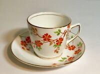 Vintage Phoenix China Hand Painted Orange Flowers Tea Cup and Saucer Set