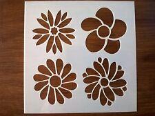 FLOWERS STENCIL 130mm x 130mm
