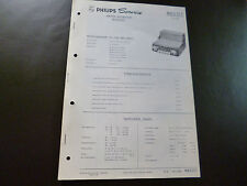 Original Service Manual Car Radio Philips n6d31t Coupe