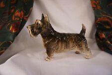"""Vintage Occupied Japan Scotty Dog Figurine Porcelain Stamped 5 3/4""""T Oj9"""