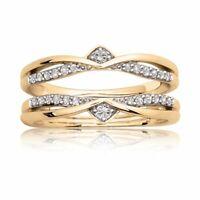 0.75 Ct Round Diamond 10k Yellow Gold Over Enhancer Wrap Engagement Wedding Ring