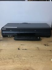 Sony DVD/VCR Combo Model #SLV-S380P w/ Remote & RCA Connector - Tested Works