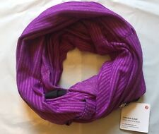 NWT Lululemon Vinyasa Scarf - MCQT Purple Mini Check Pique READ SHIP