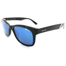 Police Sunglasses 1715 700B Shiny Black Grey Blue Mirror