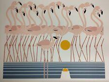 "RARE Ikki Matsumoto Limited Edition Japanese Litho ""Flamingold"" 16 x 20"