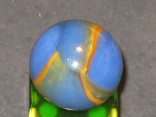AWESOME SHADE OF BLUE BLENDED MULTI COLOR VINTAGE PELTIER GLASS MARBLE MINT