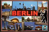 Berlín Impresiones Letrero de Metal 3D en Relieve Arqueado Tin Firmar 20 X 30CM