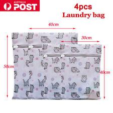 Delicates Wash Bag Laundry Lingerie Bra Washing Pack Set Of 4 Clothes Mesh Case