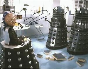 Terry Molloy as Davros Doctor Who hand signed photo with COA UACC AFTAL