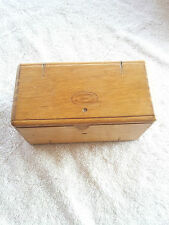 COLLECTIBLE WOODEN SEWING TOOL BOX KIT