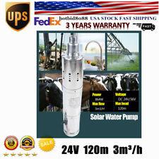 864W 3m3/h Solar Submersible Deep Well Water Pump Well Garden 120m Us