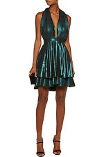 Just Cavalli Metallic Authentic Open Back Dress EU 42 (US 4-6) NEW $1,730