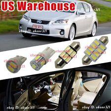 14-pc Luxury Xenon White Led Light Interior Package Kit For 11-16 Lexus CT200h