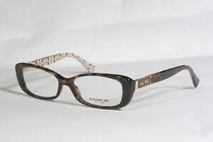 BRAND NEW COACH HC6063 Elizabeth 5262 DarkTortoise/ Sand RX Eyeglasses 51-15-135