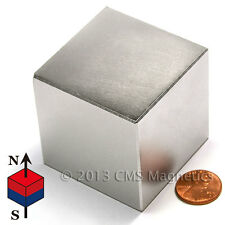 "CMS Magnetics® INCREDIBLY STRONG 484 lb Pull N50 Neodymium Cube Magnet 2"" 1-pc"