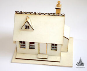 Miniature Model 1/48th Dolls House Cottage Kit - HONEYSUCKLE COTTAGE 1:48th Scal