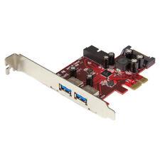 Startech.com adaptador tarjeta PCI Express de 2 puertos Exte