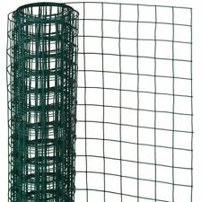 Nature Garden Fence Wire Mesh Square Green 0.5x2.5 m Outdoor Barrier 6050260