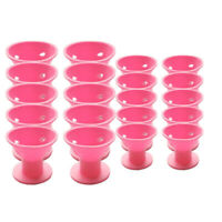 20PCS of pink magic hair reel no clip no hot silicone hair curlers professi