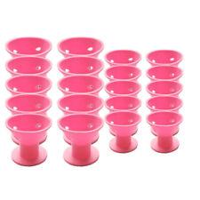 20PCS of pink magic hair reel no clip no hot silicone hair curlers professi