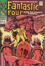 FANTASTIC FOUR #81 1968 MARVEL -CRYSTAL JOINS/DONS COSTUME- WIZARD APP LEE/KIRBY