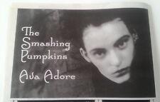 SMASHING PUMPKINS Ava Adore 1998 UK Press ADVERT 12x8 inches