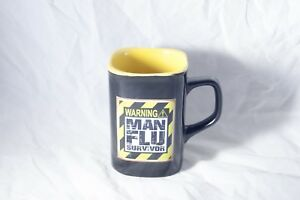 Warning! Man Flue Survivor Coffee Tea Mug