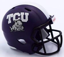 TCU HORNED FROGS NCAA Riddell SPEED POCKET PRO Mini Football Helmet