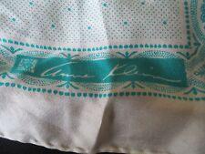 Vintage Anne Klein for Robinson Golluber Silk Scarf