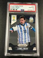 LIONEL MESSI 2014 PANINI PRIZM #12 WORLD CUP PSA 10 GEM MINT ARGENTINA (B)