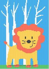 Crochet Patterns - Lion In Forest Baby Graph/Chart Afghan Pattern