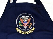 """PRESIDENTIAL SEAL APRON~""""WHITE HOUSE MESS""""~w/EMBROIDERED PRESIDENTIAL SEAL"""