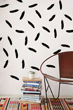"3.5"" X 1"" Feathers Home Office Wall Bathroom Window Vinyl Decals Stickers Decor"