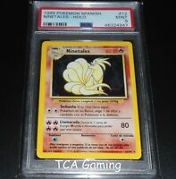 PSA 9 MINT Ninetales 12/102 SPANISH Base Set HOLO RARE Pokemon Card