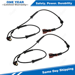 2PCS ABS Wheel Speed Sensor Rear For 2005-2007 Nissan Armada Infiniti QX56 5.6L