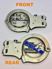 Handcuff Coin #2, Silver, Police, Thin Blue Line, 1 x Item, 90mm Wide