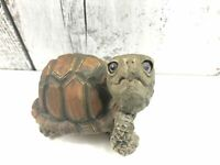 Vintage Turtle Lifelike Hand-painted Tortoise USA Resin Paper Weight Figurine