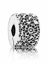 New Authentic Pandora 791758 Layers of Lace Clip Box Included