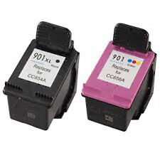 HP901XL+HP 901 Reman Ink Cart 94% More Officejet J4580 J4585 J4624 J4660 J4680
