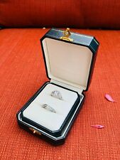 Luxury Vintage Design 2 Slot Ring Box Perfect Engagement Proposal