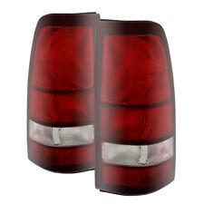 99-02 Silverado 99-03 Sierra 1500/2500/3500 Factory Style Red Smoked Tail Lights