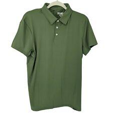 Barbell Havok Polo Shirt Short Sleeve Green Stretch Men's Small S