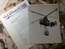 USMC Marine Corps Kaman HOK-1 Helicopter Aircraft Photo #875