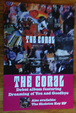 THE CORAL original record store 12x18 promo poster 2sided flat 2003 Columbia