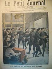ORGUE DE BARBARIE DES CHASSEURS ALPINS LE PETIT JOURNAL 1897