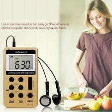 "Retekess Portable Stereo AM/ FM Radio 1.5"" Dual Band LCD Digital W/ Earphone"