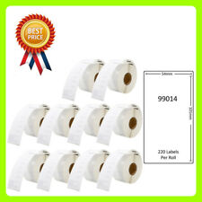 10 Rolls 99014 Labels Compatible for Dymo/Seiko 54 x 101mm 220 labels per roll
